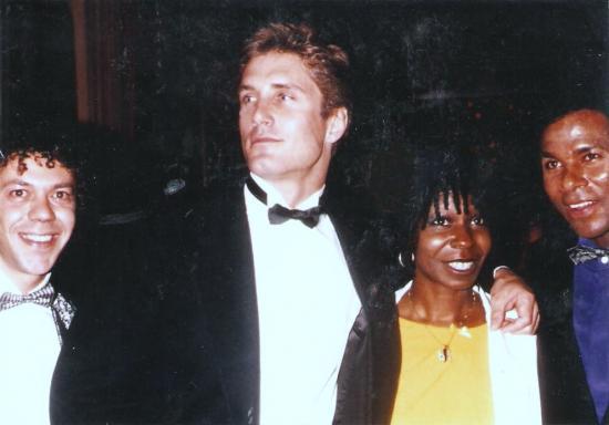 Avec Whoopy Golberg et les acteurs de Miami Vice