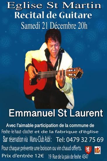Recital guitare à l'église de Fexhe-Le-Haut-Clocher